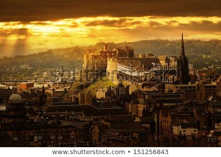 Edinburgh Castle with copy space, and sky, Scotland, UK Stock photo © Julietphotography