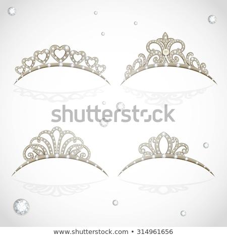 korona · tiara · nők · csillogó · értékes · kövek - stock fotó © yurkina