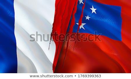 França Samoa bandeiras quebra-cabeça isolado branco Foto stock © Istanbul2009