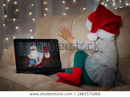Santa Claus with congratulation Stock photo © -Baks-