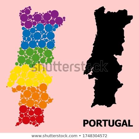 Португалия гей карта стране гордость флаг Сток-фото © tony4urban