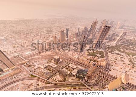 Stock fotó: Panoráma · éjszaka · Dubai · üzlet · iroda · építkezés