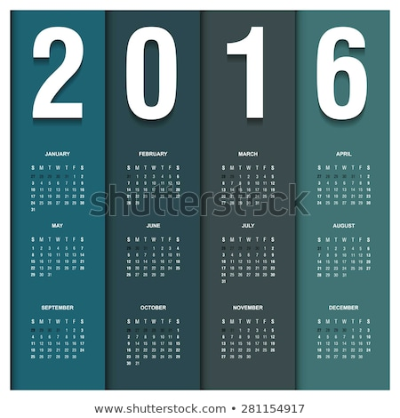 2016 calendar in the style of colorful card pattern - vector illustration stock photo © rommeo79