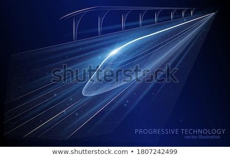 Vektör hızlandırmak tren kurşun kablo teknoloji Stok fotoğraf © Morphart
