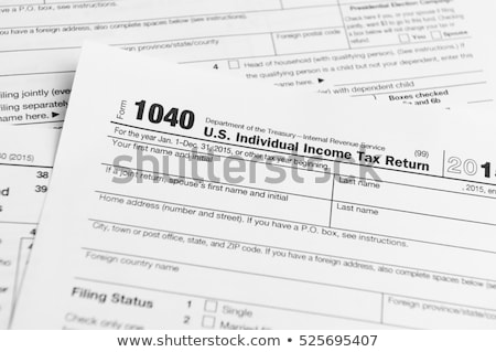 1040 tax form stock photo © mblach
