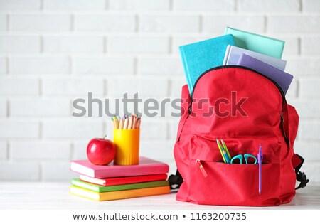 zwaar · studie · laden · rugzak · vol · boeken - stockfoto © shutswis