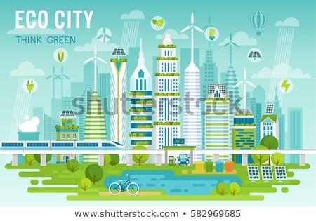 зеленый транспорт мышления альтернатива топлива символ Сток-фото © Lightsource