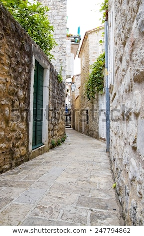 budva ancient fortress narrow street stock photo © steffus