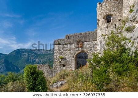 Antica fortezza principale cancello abbandonato vecchio Foto d'archivio © Steffus