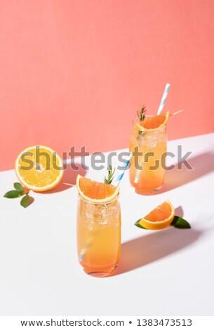カクテル 装飾された オレンジ ミント ガラス ストックフォト © crampinini