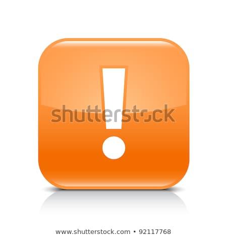 Wykrzyknik ikona czarny przycisk Internetu Zdjęcia stock © faysalfarhan