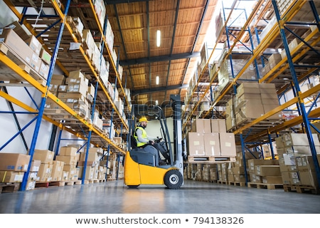 Stockfoto: Forklift Warehouse