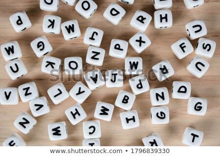 kinderen · alfabet · brieven · terug · naar · school · leren · meisje - stockfoto © zerbor