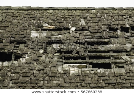 rundown old roof Stock photo © prill