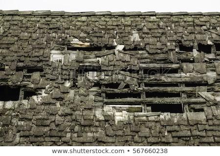 rundown old roof stock photo © prill