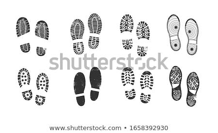 Vecteur pieds imprimer encre pied informations Photo stock © PokerMan