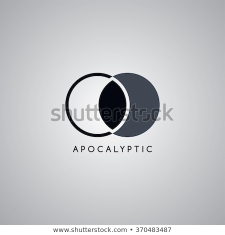 Apocalypse lune logo modèle vecteur art Photo stock © vector1st