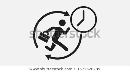 человека работает часы белый заседание работу Сток-фото © bluering