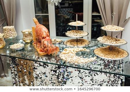 parçalar · baharatlı · salam · gurme - stok fotoğraf © klinker