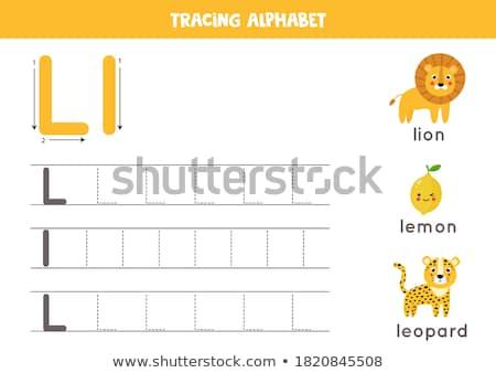 L betű leopárd illusztráció természet háttér művészet Stock fotó © bluering