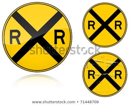 Variants a Level crossing warning - road sign Stock photo © boroda