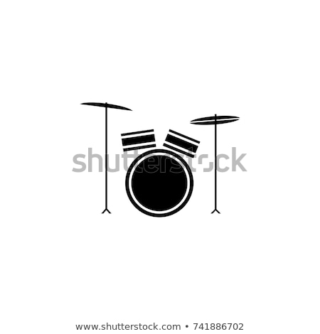 Round icons with drum toys Stock photo © bluering