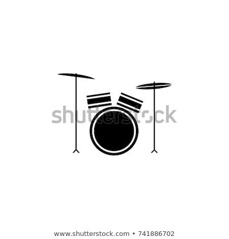 ボタン · ドラム · おもちゃ · 白 · 音楽 · 背景 - ストックフォト © bluering