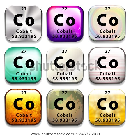 A button showing the element Cobalt Stock photo © bluering