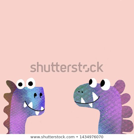 Kids puzzle with a brown cartoon dinosaur Stock photo © adrian_n