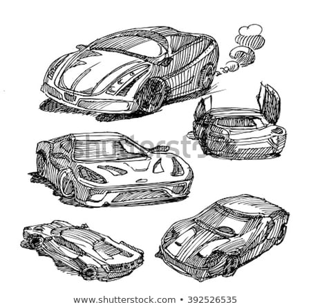 race car sketch icon stock photo © rastudio