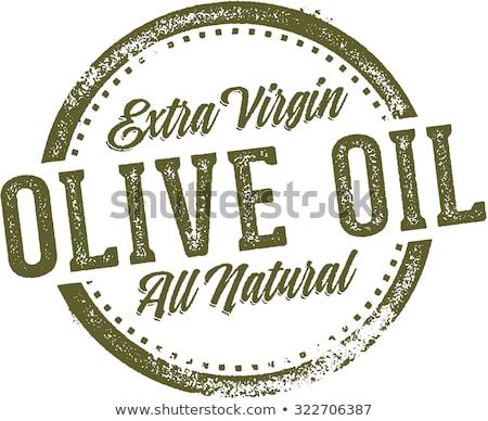 Extra szűz olívaolaj klasszikus üveg üveg Stock fotó © marimorena