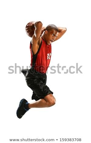 молодые · баскетбол · белый · фитнес · фон - Сток-фото © bluering