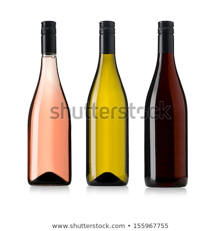 A bottle of white wine, isolated on white with clipping path. Stock photo © kayros