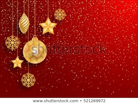 Lujo rojo Navidad vale dorado Foto stock © liliwhite
