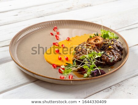 ossobuco with falafel and red wine stock photo © kalinich24