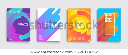 business card presentation template with abstract colorful