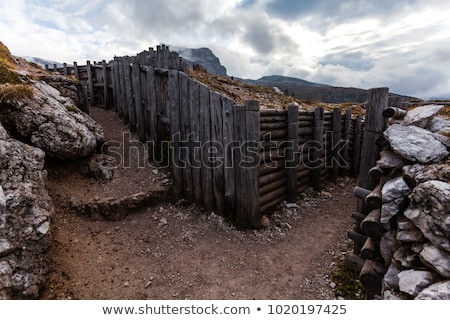 Dolomiti - old WW1 trench Stock photo © Antonio-S