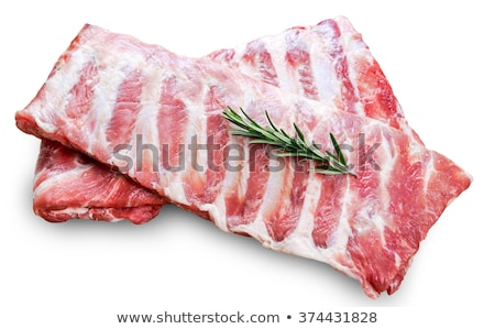Ruw varkensvlees achtergrond keuken donkere Stockfoto © yelenayemchuk