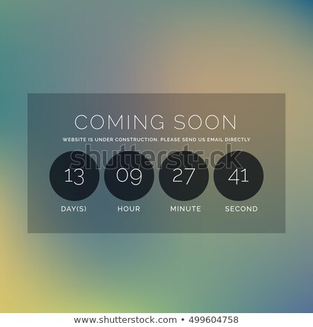 blurred background with coming soon text and countdown timer Stock photo © SArts