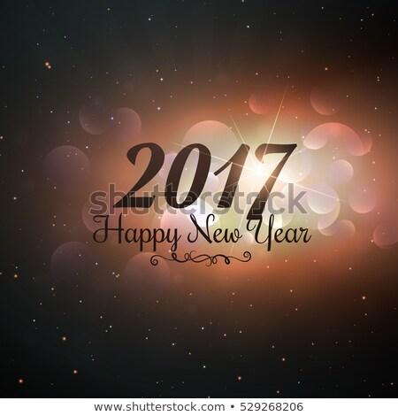 új év szöveg írott univerzum stílus boldog Stock fotó © SArts