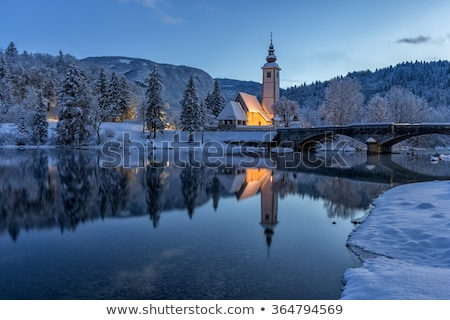 Church of St. John the Baptist in Bohinj in winter Stock photo © stevanovicigor