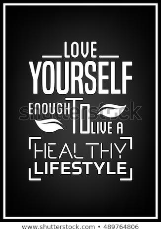 egészséges · életmód · illusztráció · egészséges · étel · fitnessz · nem · stressz - stock fotó © tefi