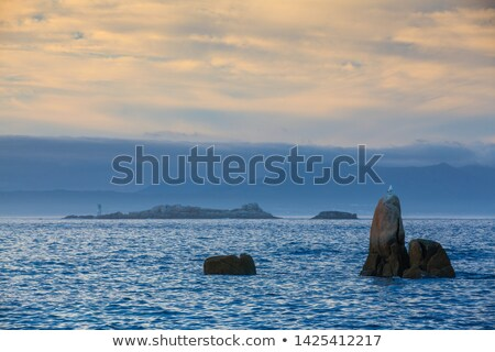 sunset on con negro coast in galicia stock photo © capturelight