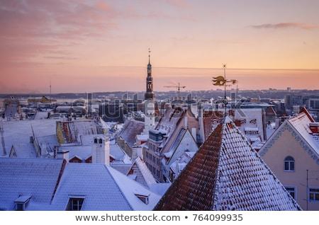 öreg házak Tallinn Észtország történelmi Stock fotó © Estea