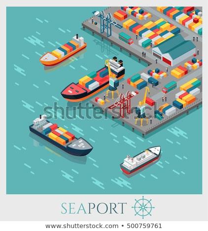 Industrial commercial sea port Stock photo © joyr