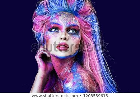 魅力的な女の子 バイオレット 髪 肖像 女性 顔 ストックフォト © fotoduki