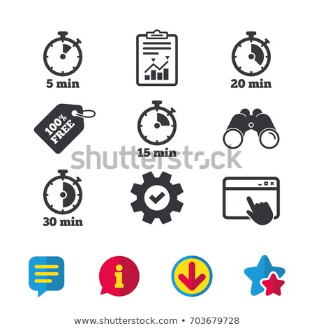 Set of 20 browser icons stock photo © ordogz