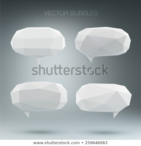 Low poly speech bubble set colorful stock photo © user_11397493