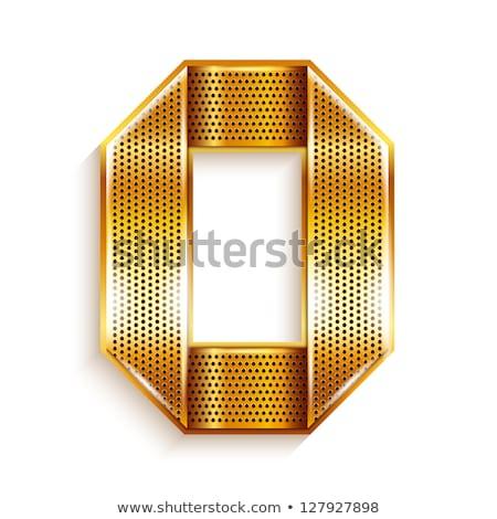 Luminoso numerale piegato numero carta nastro Foto d'archivio © Ecelop