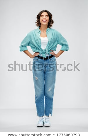 Full-length shot of young woman Stock photo © deandrobot